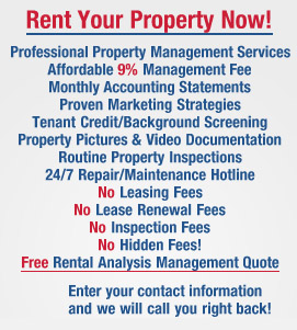 Rent your property now!